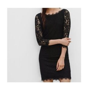 Babaton Black Lace Raphael Dress | Aritzia